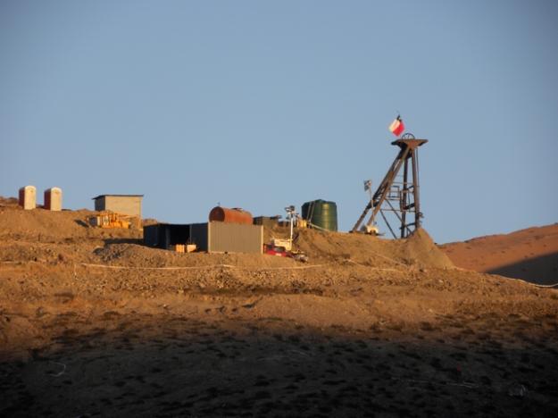 Dawn at the mine.
