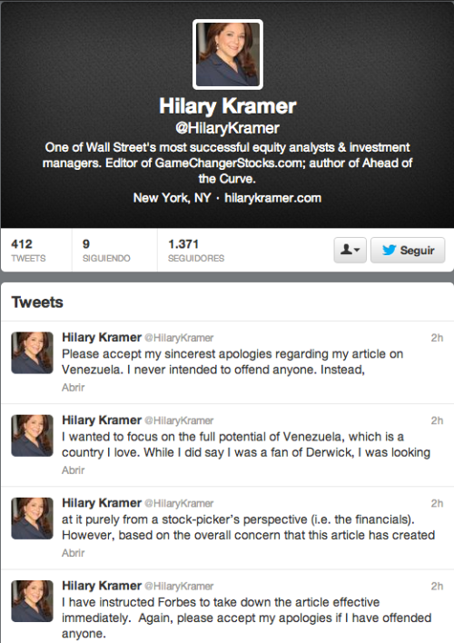kramer tweets 27 sept