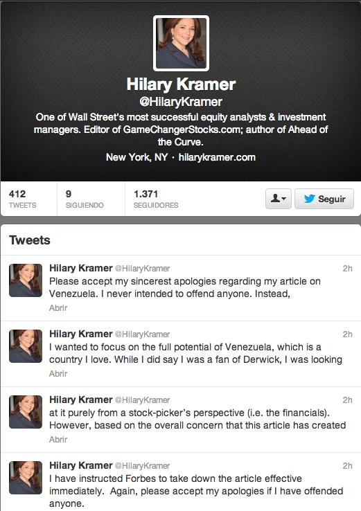 kramer tweets 27 sept