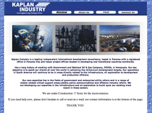 Kaplan Industry website, unchanged since 2010