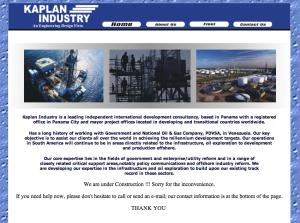 Kaplan Industry website, unchanged since 2010
